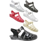 D4781 Wedge jelly sandals shoes with adjustable bar Kids UK3-6 no vat Was £2.99 Now £1.99 each