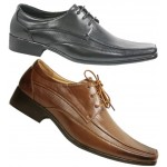 4846 mens Lace up Derby style dress shoe with punch panel detail, £5.50 + VAT