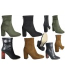 NF-11 Ankle boot with block heel and back zip Stretch material  £14.99 each +VAT