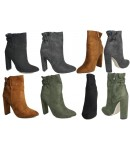 NF-13 Ankle boot with hi fashion heel, ruched topline, inside zip  £14.99 each +VAT
