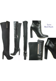 NF-14 Thigh length boot with hi fashion heel, Lycra back panels, inside zip  £17.99 each +VAT