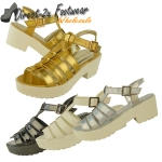 Anne mid heeled sling back gladiator sandal £7.99 each