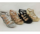 LL 1721 Women's Gladiator Studded Wedge Sandal Now £9.99 each + VAT Was £13.99