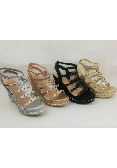 Women's Gladiator Studded Wedge Sandal Now £12.50 each + VAT Was £13.99