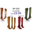 NF-020 Thigh length boot with hi fashion clear heel, side zip  £9.99 each +VAT