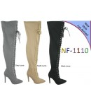 NF 1110 Over the Knee Hi Heel Lace Up Pointy Boot, £19.99 each +VAT