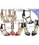 NF-1168 Ladies Satin Jewel Back Zip High Heel sandals £17.99 each + VAT