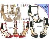 NF-1168 Ladies Satin Jewel Back Zip High Heel sandals £17.99 Now £11.99 each + VAT