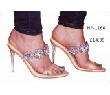 NF- 1166  Perspex Jewel Mule sandals £14.99 each + VAT
