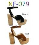 NF- 079 Faux Suede Cork Heel  platform shoes £11.99 each + vat