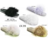 NF-1279 Ladies Diamante Fur Slider  £4.99 + VAT