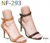 NF 293 Ladies Mid-Heel Faux Suede sandals £9.99 each + VAT