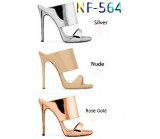 NF- 564 LADIES High Heel Metallic MULES £11.99  +VAT