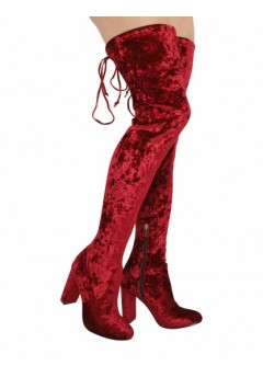NF 433 Over the Knee Hi Heel platform Velvet boot, £7.99 each +VAT