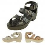 Angie mid heeled gladiator snake print sandal £7.99 each