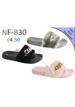 NF 830 Ladies Fluffy Fur Chain Slider  £4.50 Now £3.99  + VAT