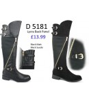 D 5181 Buckle Riding Boots with Lycra Back Panel  £13.99 each +VAT