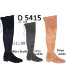 D 5415 Over the Knee Flat Heel Suede boot, £11.99 each +VAT