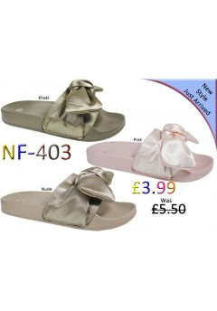 NF-403 Ladies Satin slider Was £5.50 now £3.99 each + VAT
