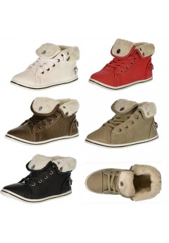 4672 Girls uk10-2 fur lined high top trainers Was £4.99 Now £1.99 each