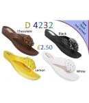 D 4232 Flat diamante sandals £2.50 + VAT