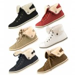 D4673 Kids Girls uk10-2 quilted fur lined trainers from £4.99 each