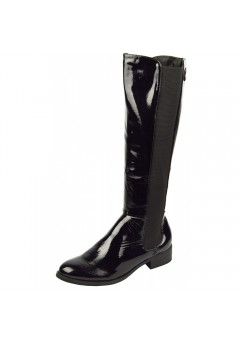 D3945 Low heeled elasticated riding boot Sale Price £6.99