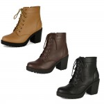 4653 block heeled lace up chelsea boots Was £9.99 each Sale Price £7.99