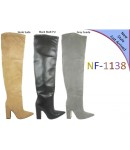NF 1138 Over the Knee Block Heel Faux Suede Pointy Boot, £17.99 each +VAT