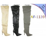 NF 1139 Over the Knee Stiletto Heel Faux Suede Pointy Boot, £20.99 each +VAT