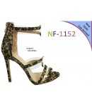 NF-1152 Ladies Leopard Print and Perspex Back Zip High Heel sandals £13.50 each + VAT