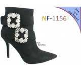 NF 1156 Faux Buckle Detail Suede Pointy Ankle Boot, £18.99 each +VAT
