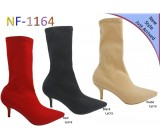 NF 1164 Over the Knee Mid Heel Lycra Pointy Boot, £14.99 each +VAT