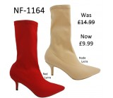NF 1164 Over the Knee Mid Heel Lycra Pointy Boot, Was £14.99 Now £9.99 each +VAT