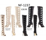 NF-1237 Gladiator Style Knee Length High Heel Boots  £28.99 each +VAT