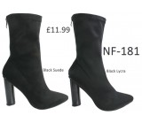 NF-181 Stretch Ankle boot with cylindrical heel  £11.99 each +VAT