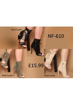 NF-610 Side Lace-up x Buckle Sandal Boots  £15.99 each +VAT