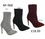 NF-968 Knit Mid heel Pointy Boot £18.99 each +VAT