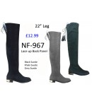 NF 967 Over the Knee Mid Heel Suede boot, £12.99 each +VAT