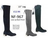 NF 967 Over the Knee Mid Heel Suede boot, £10.99 each +VAT