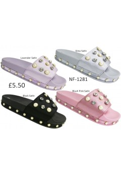 NF-1281 Ladies Embellished Satin Slider  £5.50 + VAT