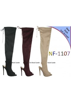 NF 1107 Over the Knee Hi Heel Open Toe Boot, £18.99 Now £14.99 each +VAT