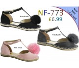 NF 773 Ladies Pompom Espadrille sandals £6.99 each + VAT