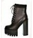 D 4778 Chunky Platform Heeled Cleated Lace Up Boots £9.99 each