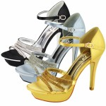 D4545 Ladies high heel satin party sandals £10.99 each