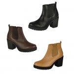 4651 block heeled chelsea boots Was £9.99 each Sale Price £7.99